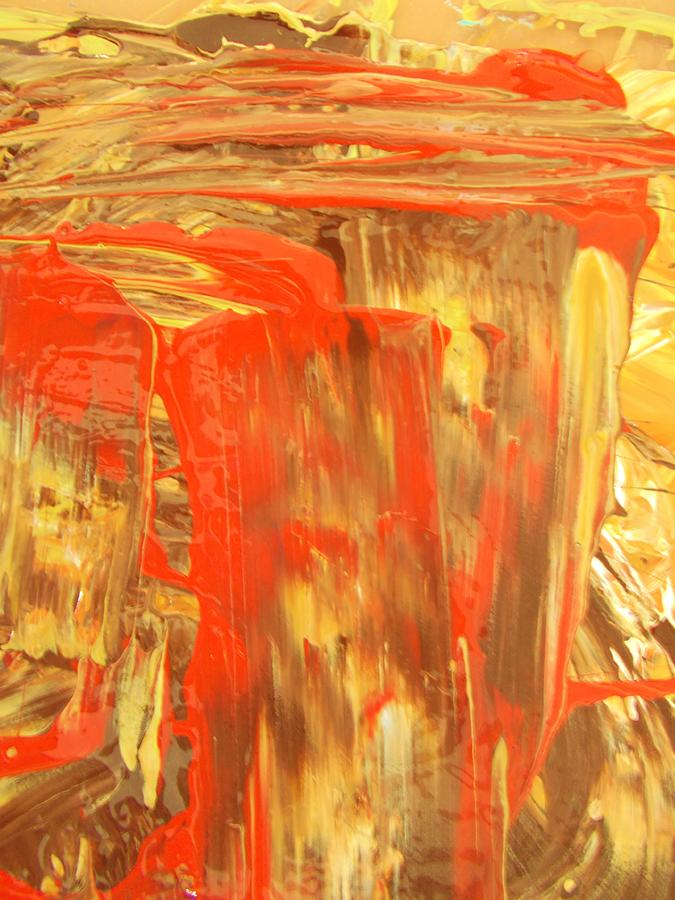 Original Painting - Pouring Red by Artist Ai