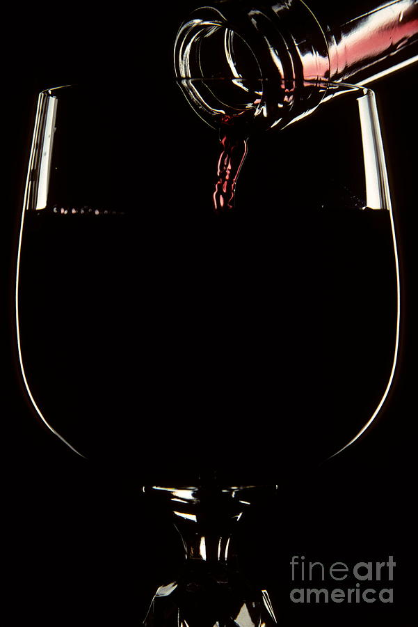 Kitchen Photograph - Pouring Wine by Cyril Furlan