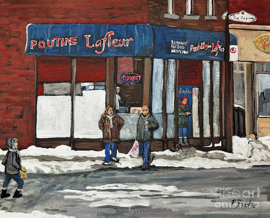Wellington Street Painting - Poutine Lafleur On Wellington by Reb Frost
