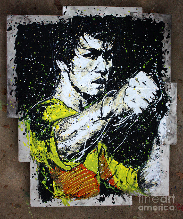 Bruce Lee Painting - POW by Chris Mackie