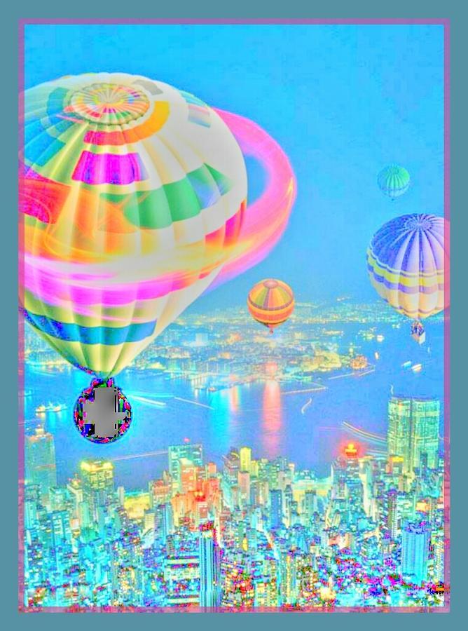 Powder Blue City Digital Art by Tracie Howard