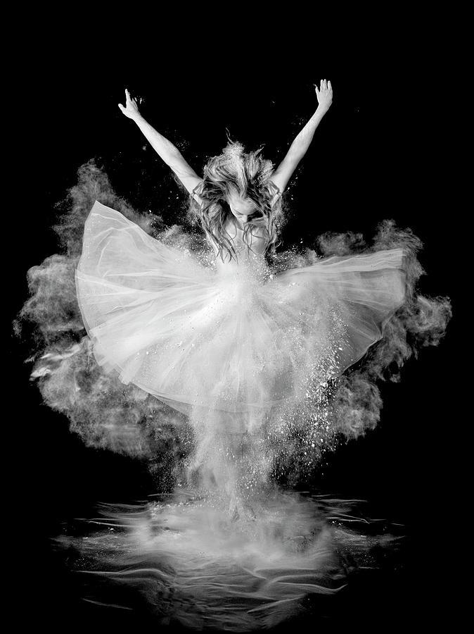 Dust Photograph - Powder Burst by Pauline Pentony Ba