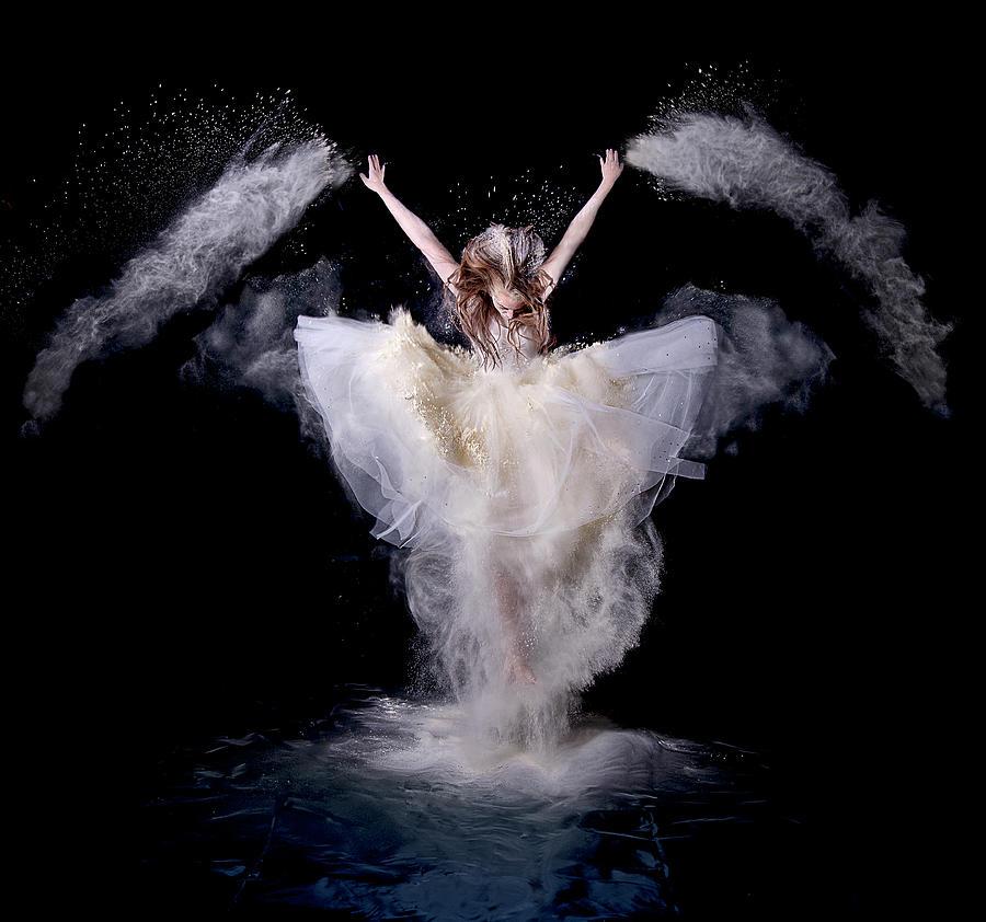 Action Photograph - Powder Rush by Pauline Pentony Ba