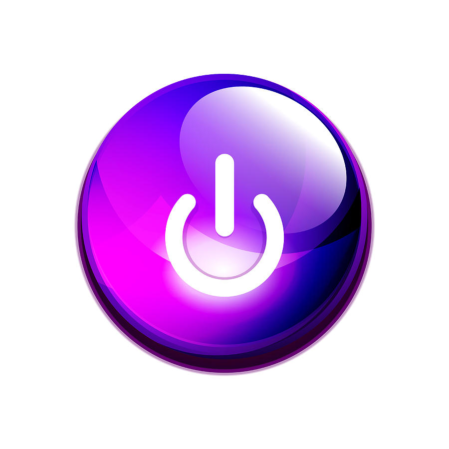 Power Button Icon, Start Symbol by Antishock
