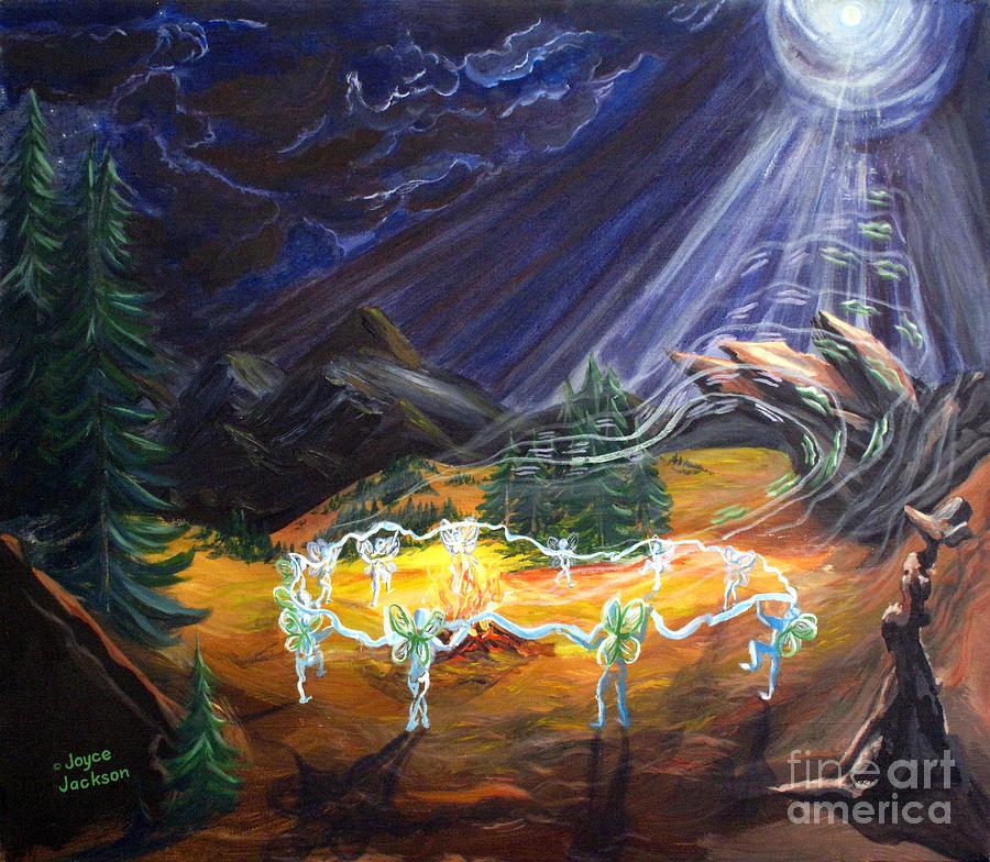 Fairies Painting - Power Dance by Joyce Jackson