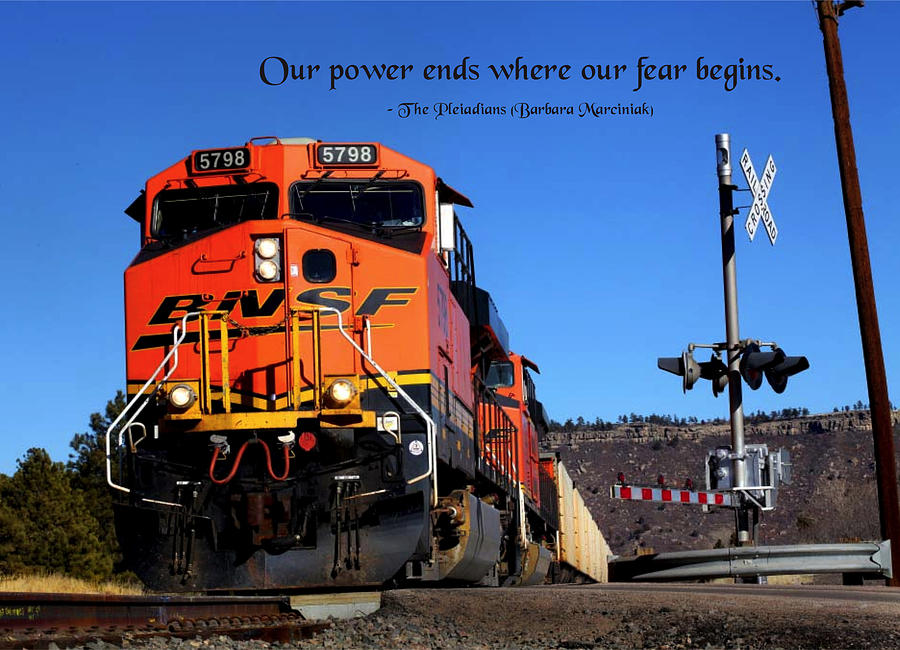 Quotation Photograph - Power Ends by Mike Flynn