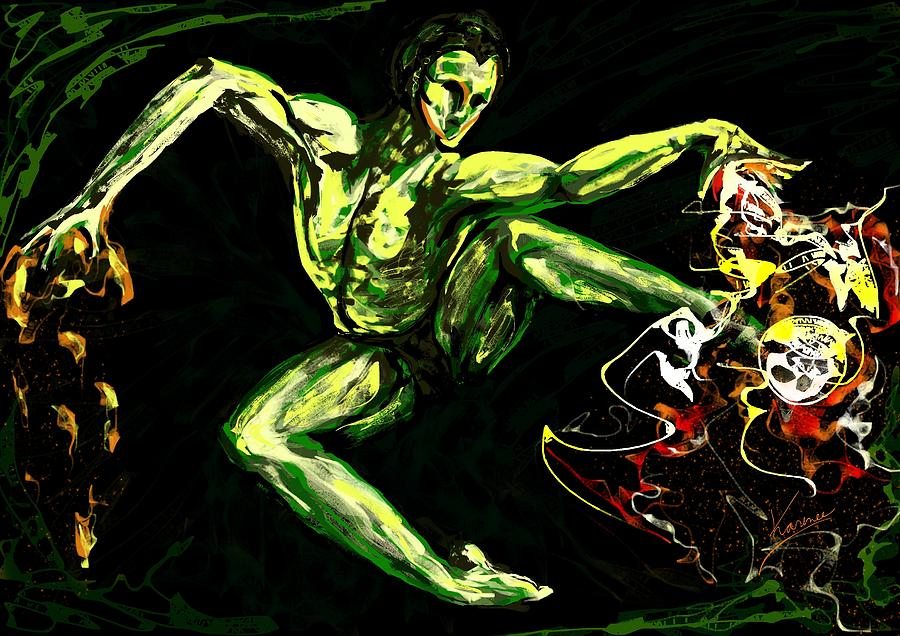 Super Power Digital Art - Power by Karen  Renee