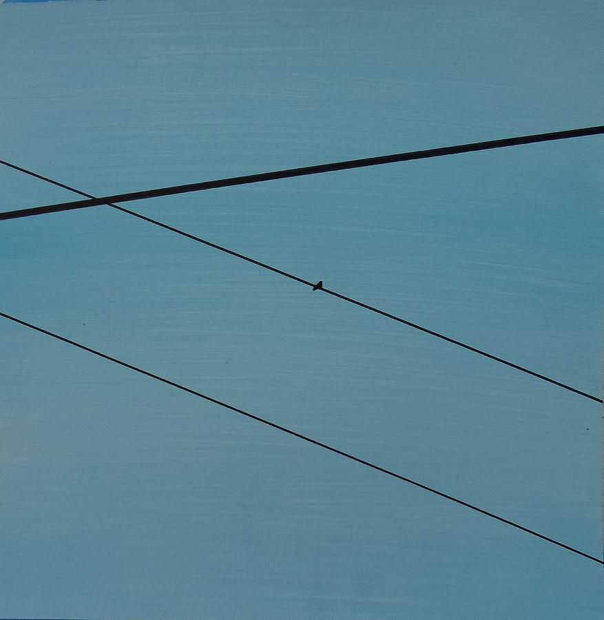 Abstract Painting - Power Lines 03 by Ronda Stephens