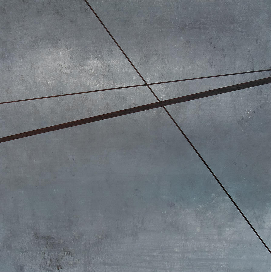 Abstract Painting - Power Lines  05 by Ronda Stephens