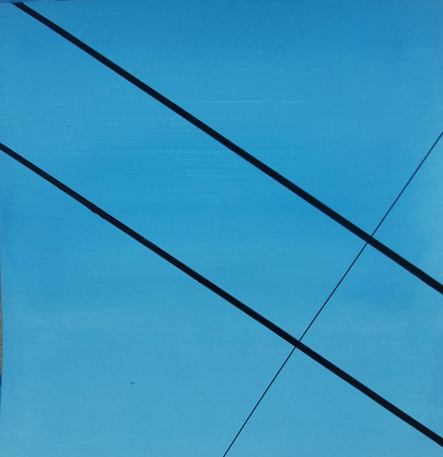 Abstract Painting - Power Lines 07 by Ronda Stephens