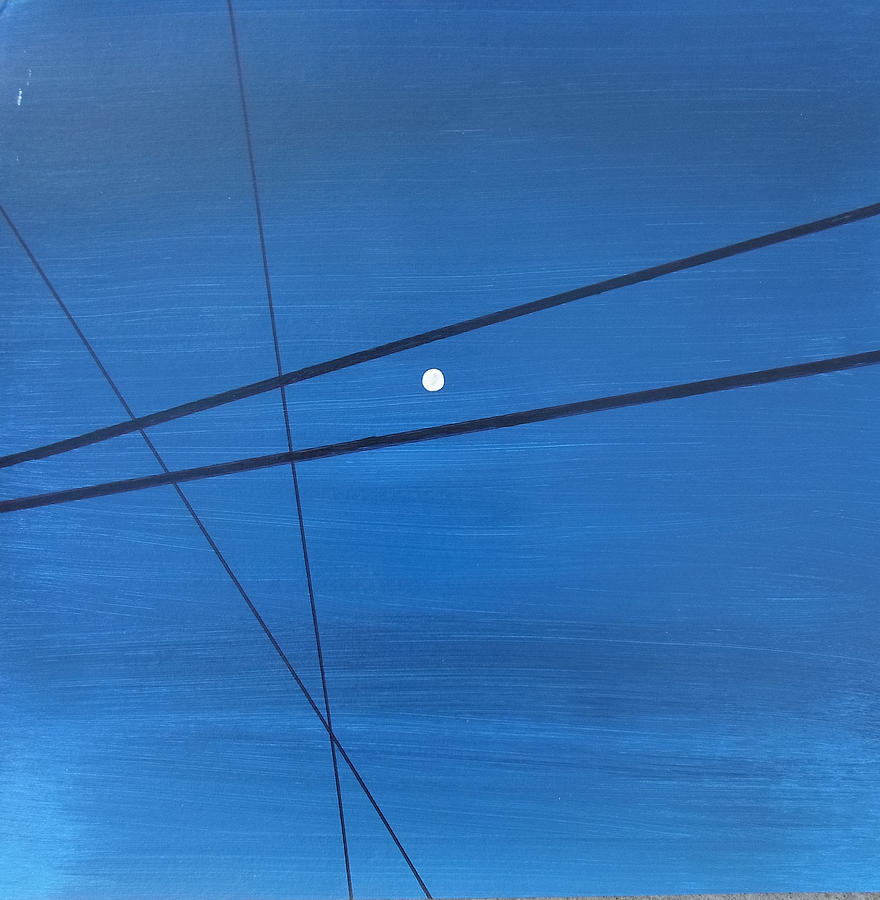 Abstract Painting - Power Lines 09 by Ronda Stephens
