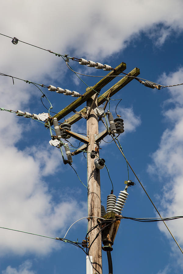 Voltage Photograph - Power Lines by Earl Ball