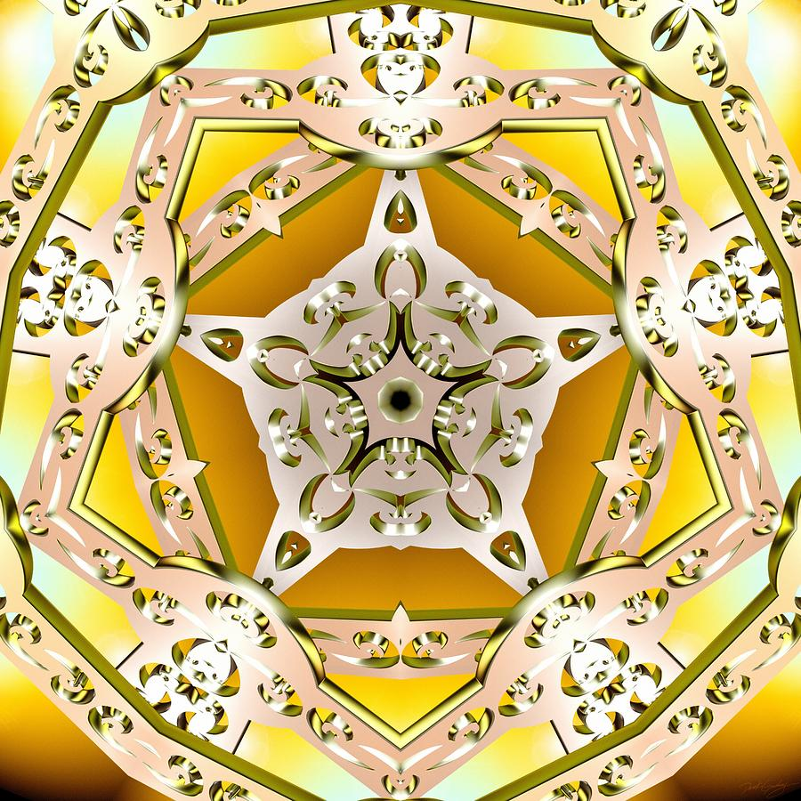 Sacred Digital Art - Power Of Gold by Derek Gedney