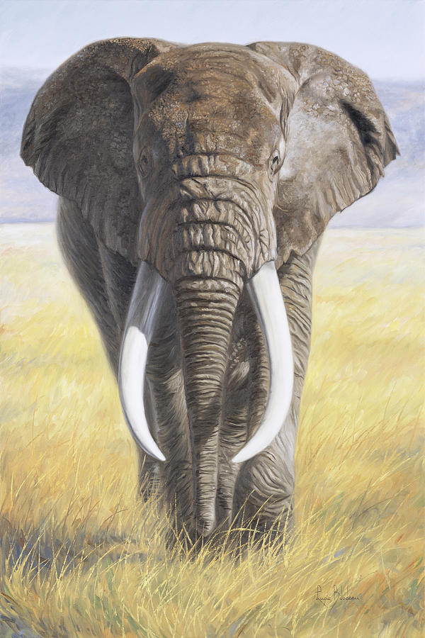 Elephant Painting - Power Of Nature by Lucie Bilodeau