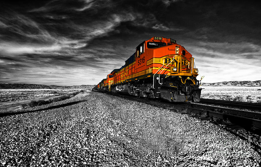 Bnsf Photograph - Power Of The Santa Fe  by Rob Hawkins