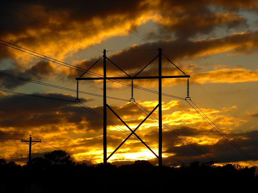 Energy Photograph - Power Switch by Ella Char