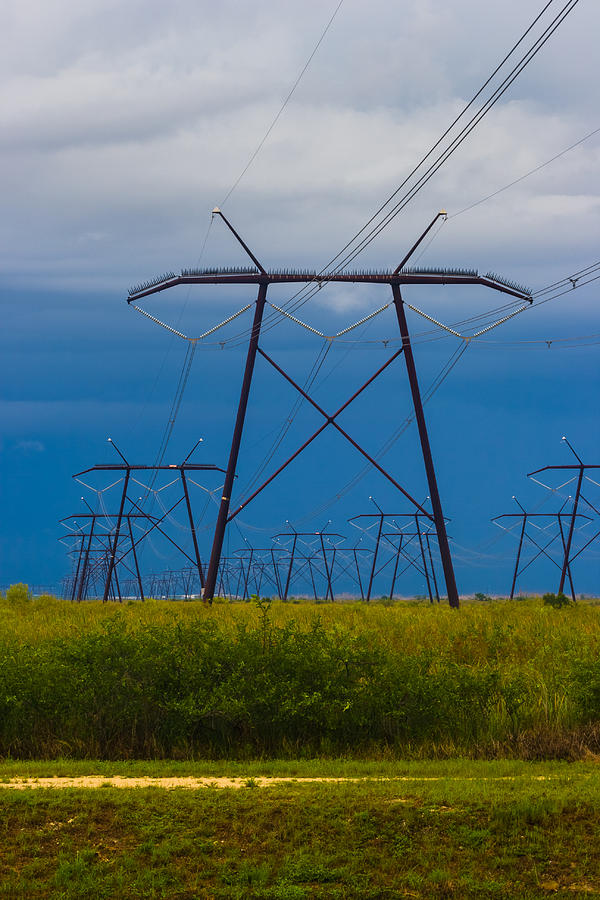 Brush Photograph - Power Towers by Ed Gleichman