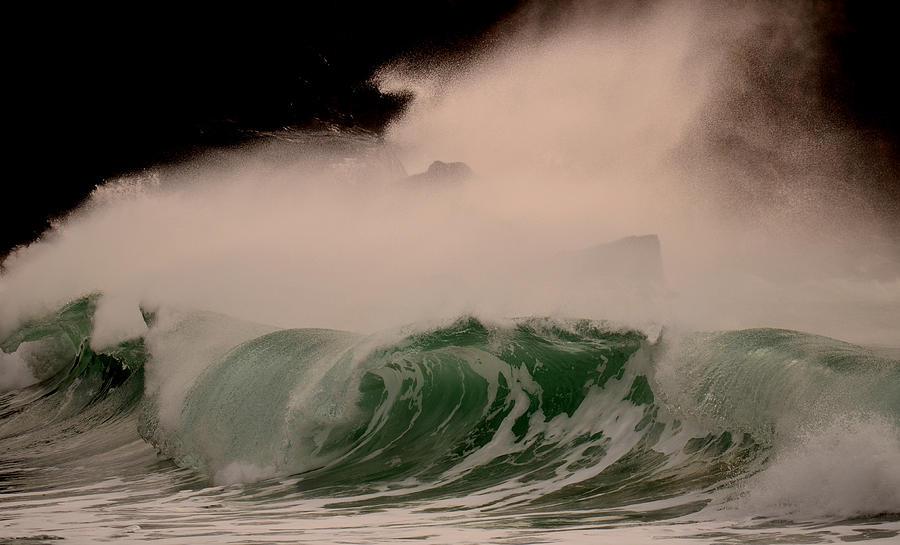 Waves Photograph - Power Wave by Barbara Walsh