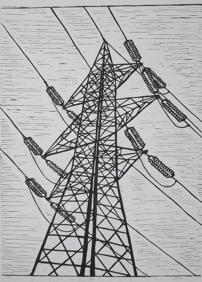 Power Drawing - Power by William Cauthern