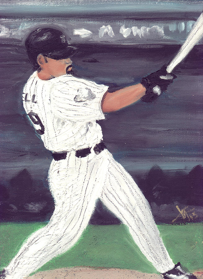 Baseball Painting - Powered By Lowell by Jorge Delara