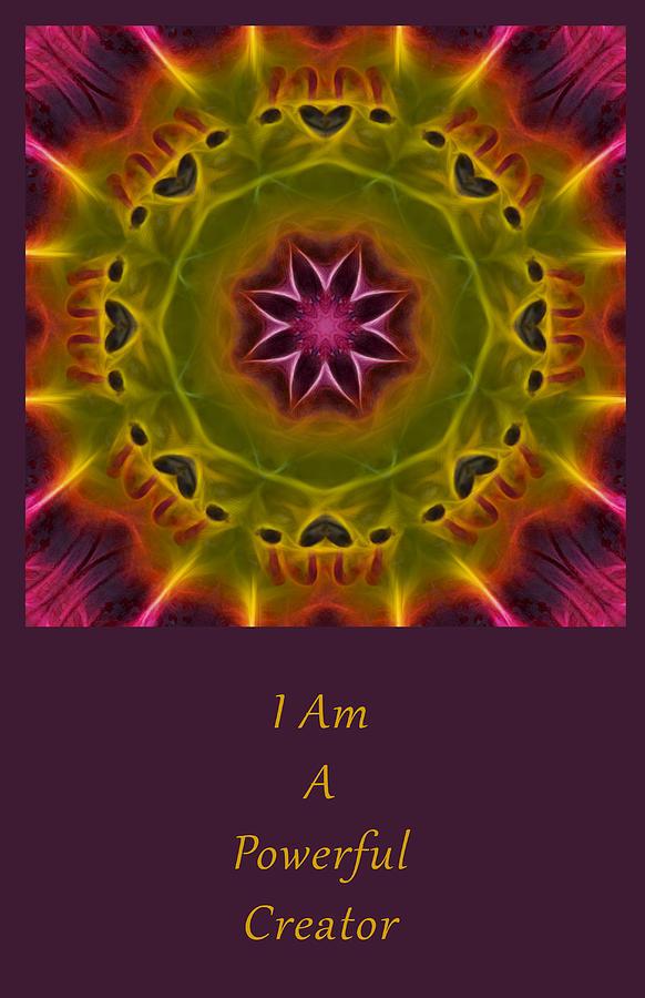 Mandala Photograph - Powerful Creator by Beth Sawickie