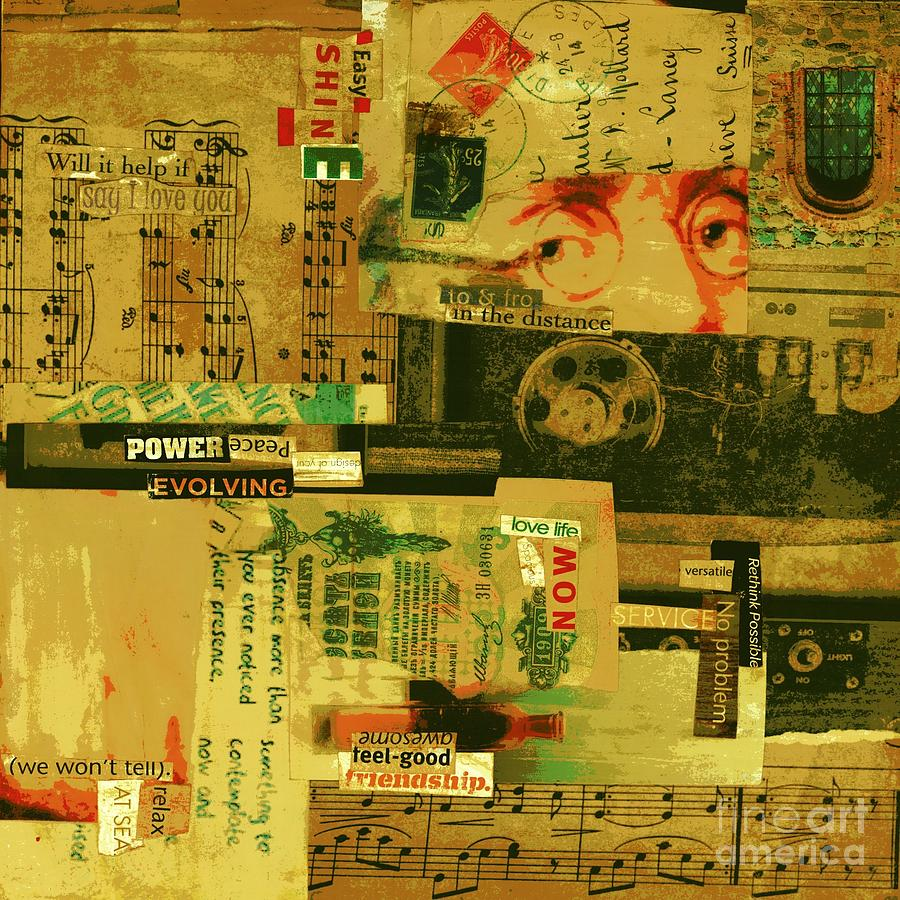 Powerful Peace Mixed Media by Currie Silver
