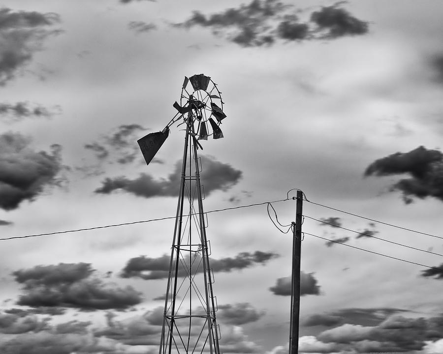 Old Windmill Photograph - Powerless by Alan Tonnesen