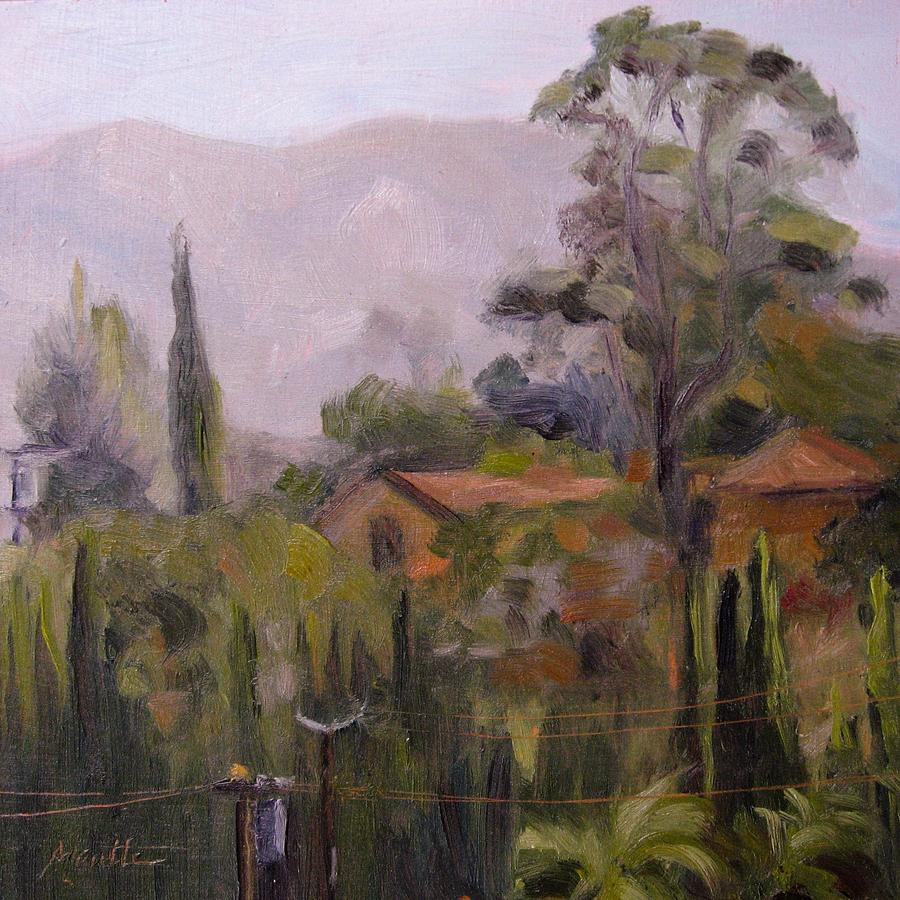 California Painting - Powerline Checkpoint by Athena Mantle