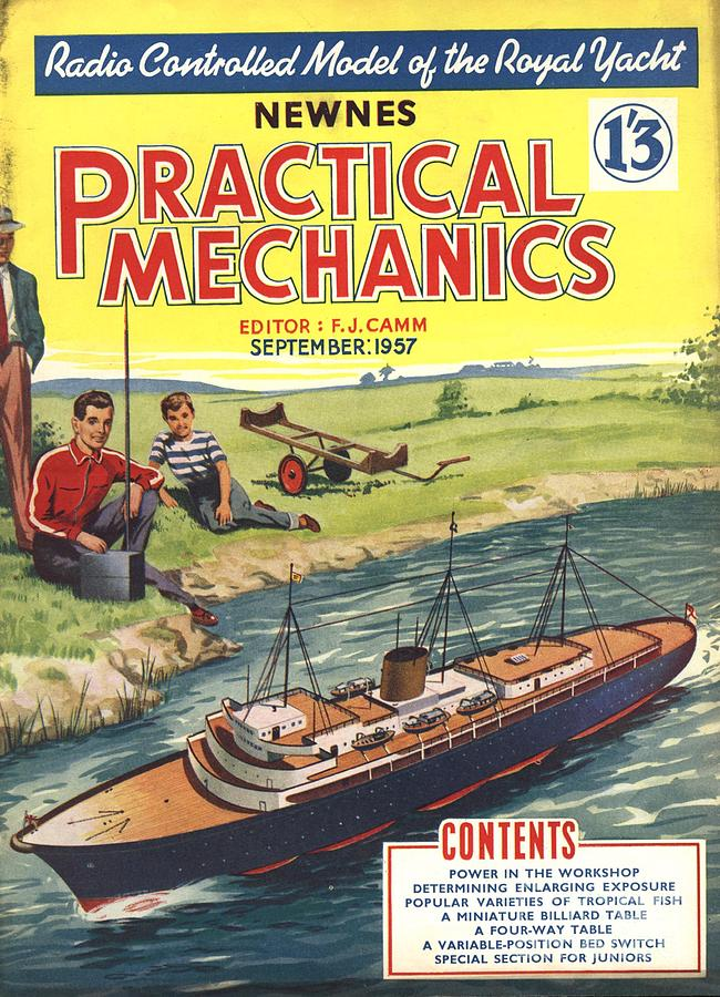 1950s Drawing - Practical Mechanics 1950s Uk Diy Boats by The Advertising Archives