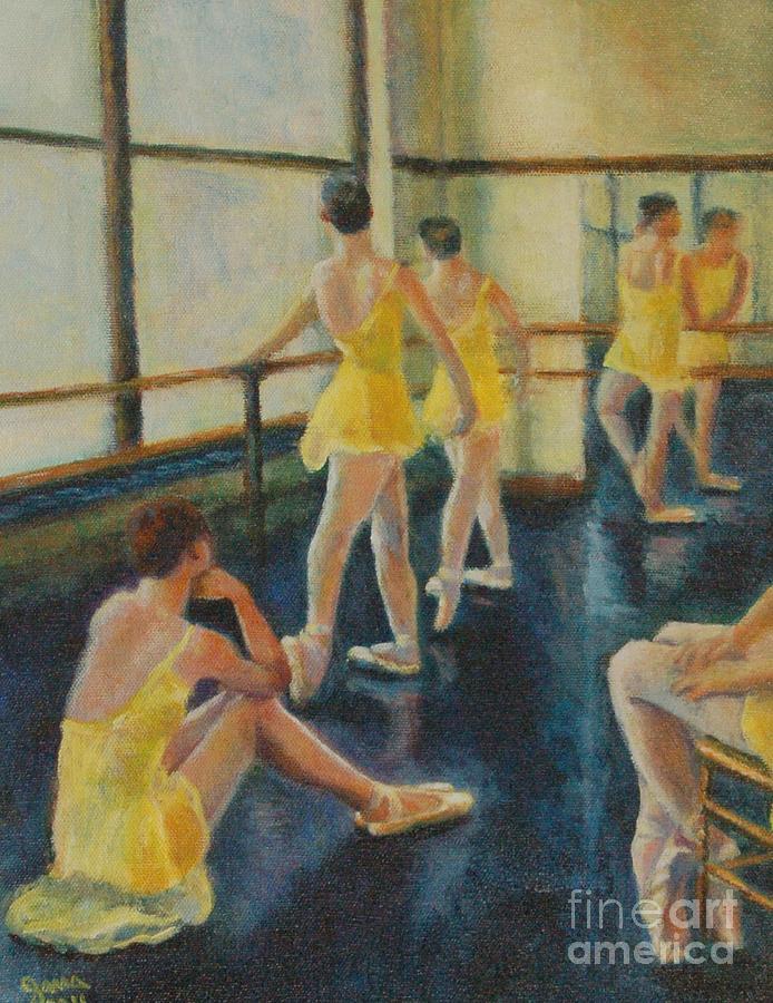 Ballerina Painting - Practice by Jana Baker