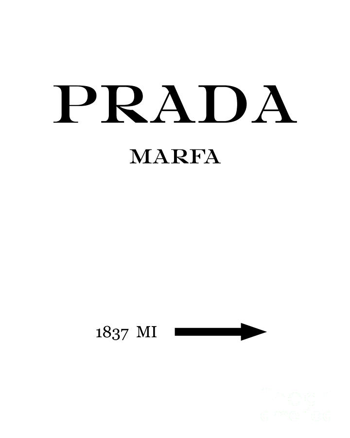 prada marfa 1837 mi mileage distance digital art by edit voros. Black Bedroom Furniture Sets. Home Design Ideas