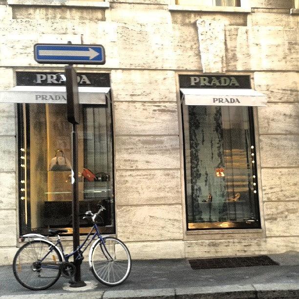 Shop Photograph - #prada #store In #milan #viasantandrea by Andrea Zampedroni