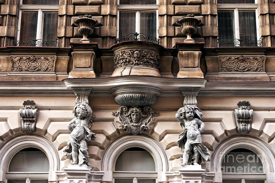 Balcony Photograph - Prague Architecture by John Rizzuto