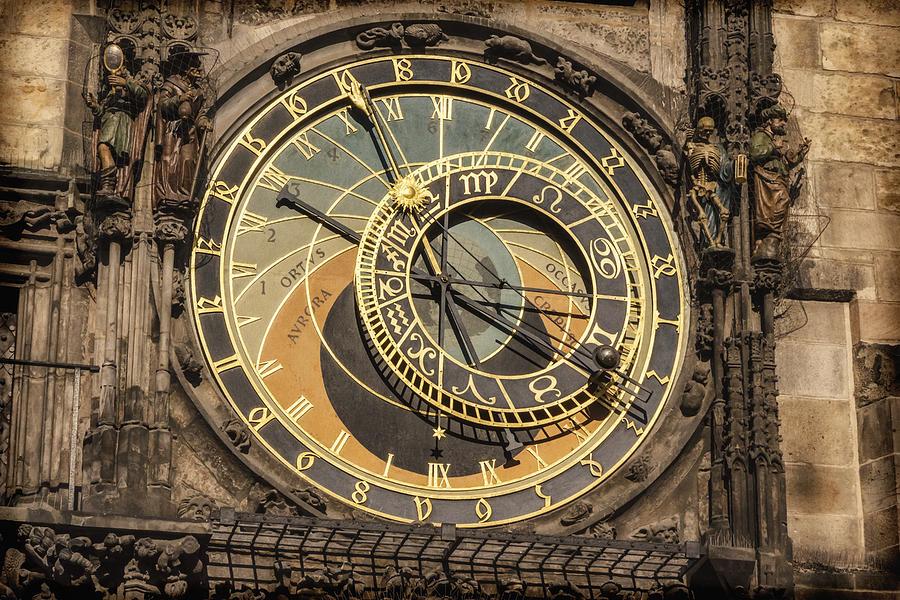 Joan Carroll Photograph - Prague Astronomical Clock by Joan Carroll