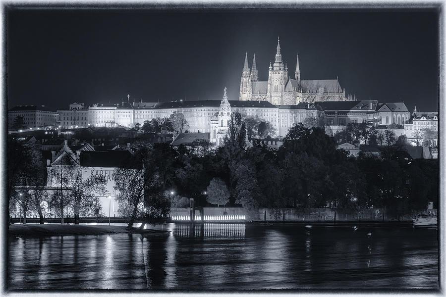 Prague Castle At Night Photograph