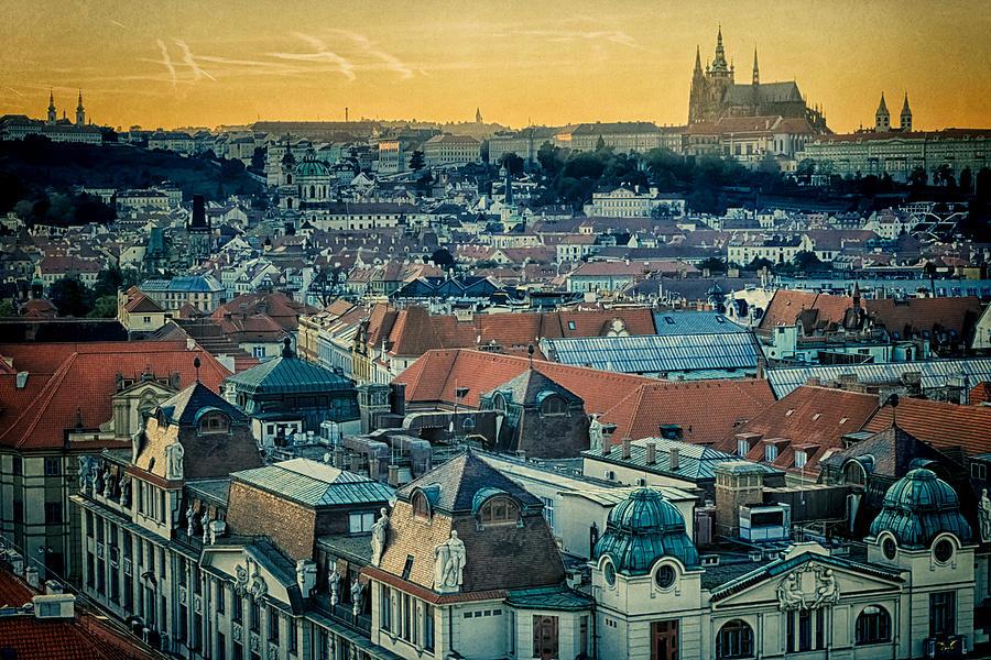 Czech Photograph - Prague Castle Sunset by Joan Carroll