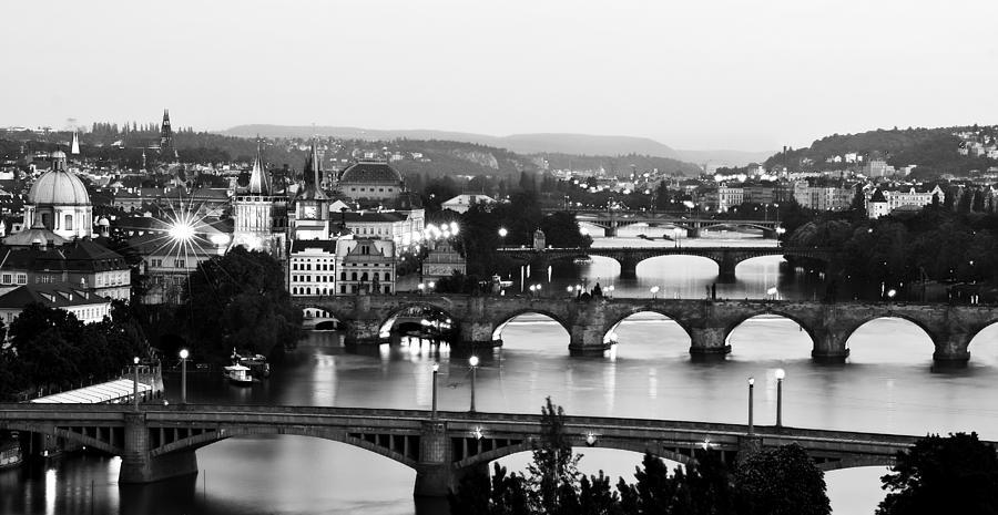 Prague Photograph - Prague Cityscape by Barry O Carroll