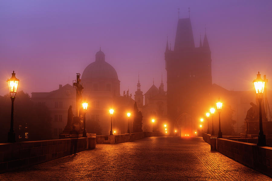 Prague, Czech Republic, Charles Bridge Photograph by B&m Noskowski