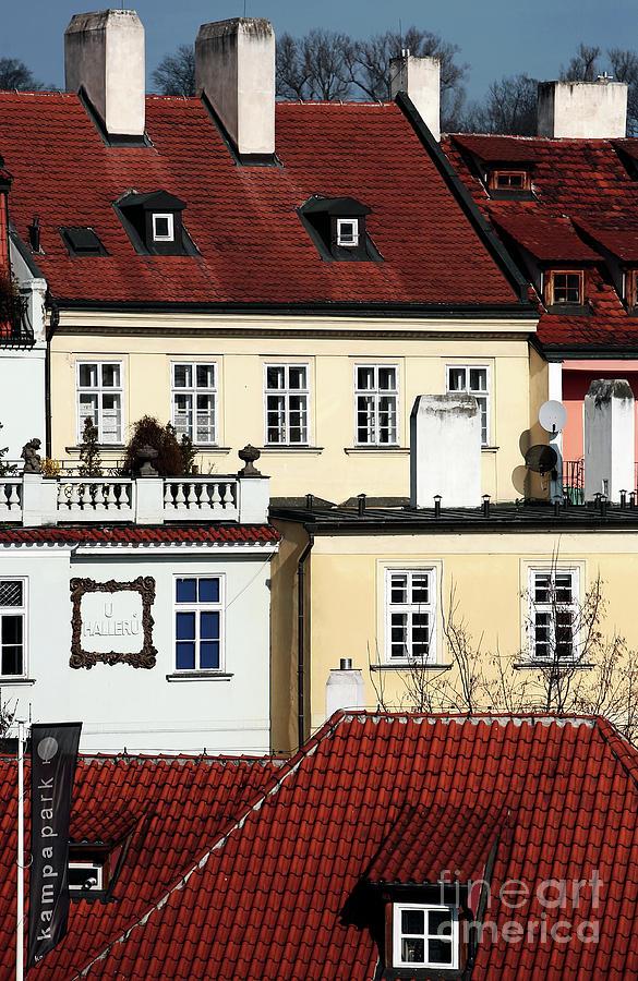House Photograph - Prague Houses by John Rizzuto