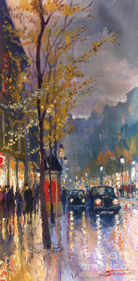 Prague Painting - Prague Old Vaclavske Square 01 by Yuriy  Shevchuk