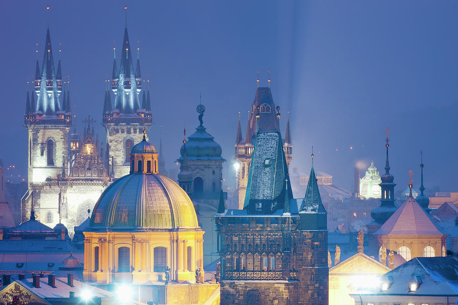 Prague - Spires Of The Old Town Photograph by Frank Chmura