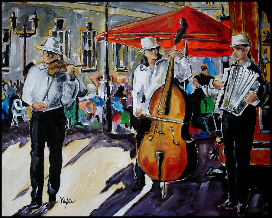 Music Painting - Prague Street Music II by Vickie Warner