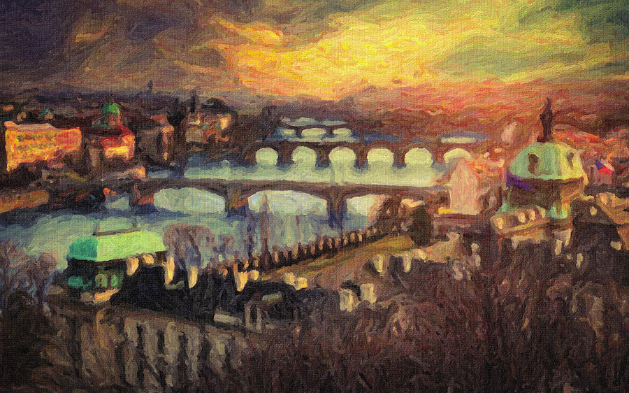 Prague Painting - Prague by Taylan Apukovska
