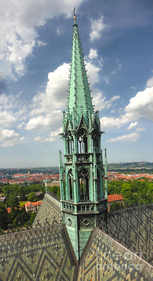 Prague Castle Photograph - Prague - View From Castle Tower - 07 by Gregory Dyer