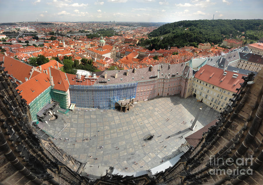 Prague Castle Photograph - Prague - View From Castle Tower - 08 by Gregory Dyer