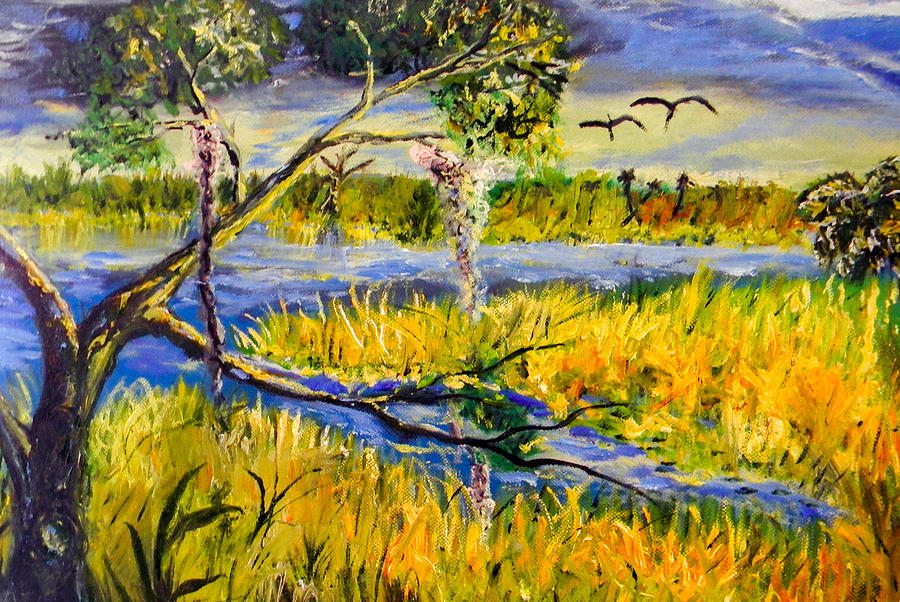 Landscape Painting - Prairie by Christy Usilton