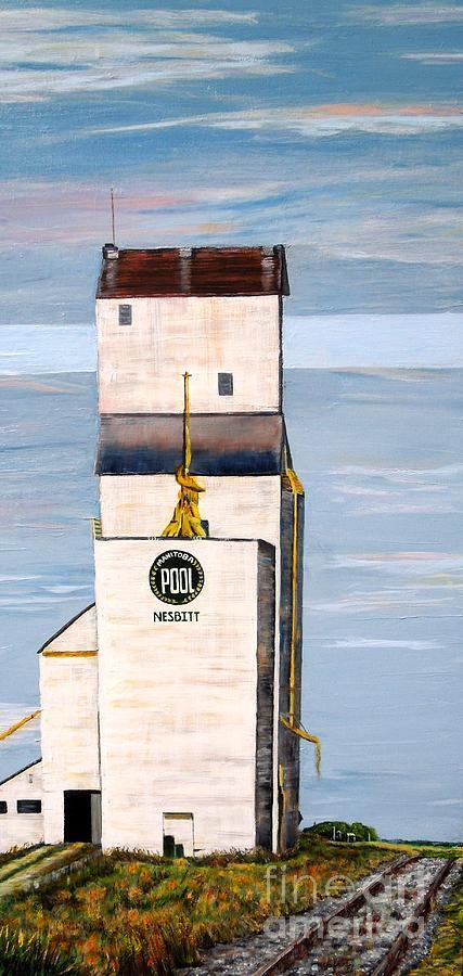 Manitoba Pool Elevator Painting - Prairie Icon - Manitoba Pool Elevator by Marilyn  McNish