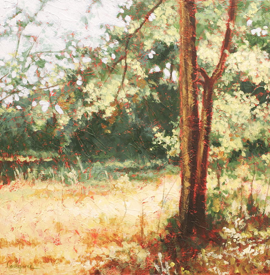 Trees Painting - Prairie Light 2 by Carlynne Hershberger