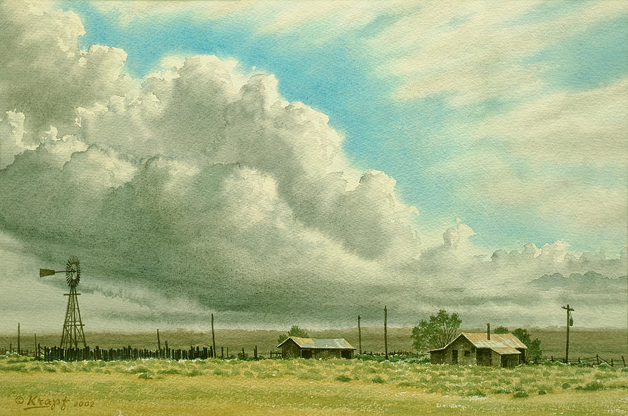Landscape Painting - Prairie Sky by Paul Krapf