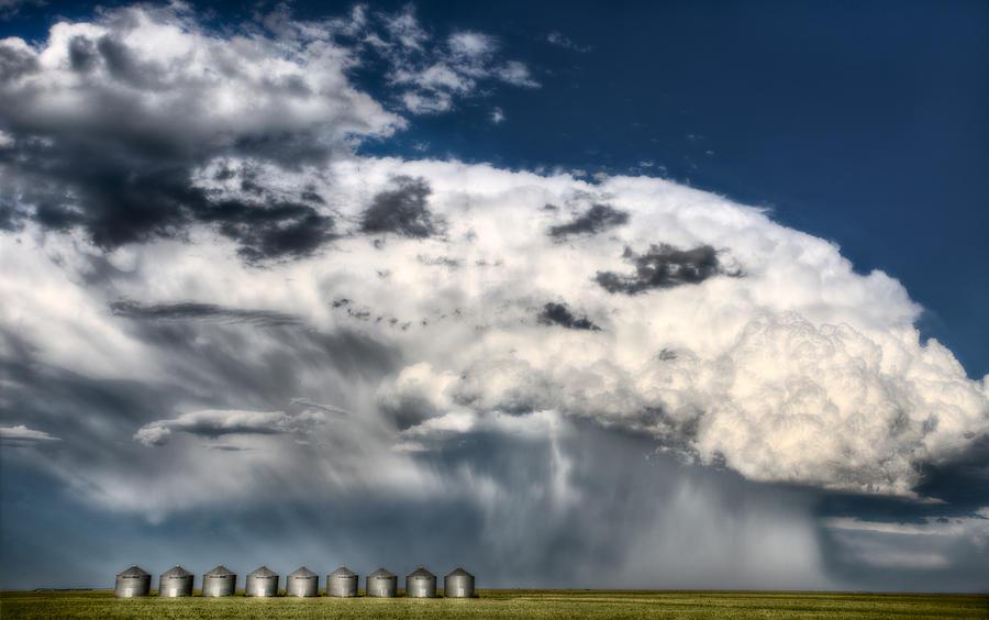 Prairie Digital Art - Prairie Storm Clouds by Mark Duffy